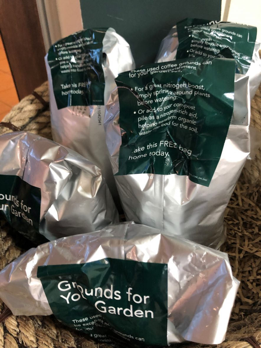 Free coffee grounds to take home